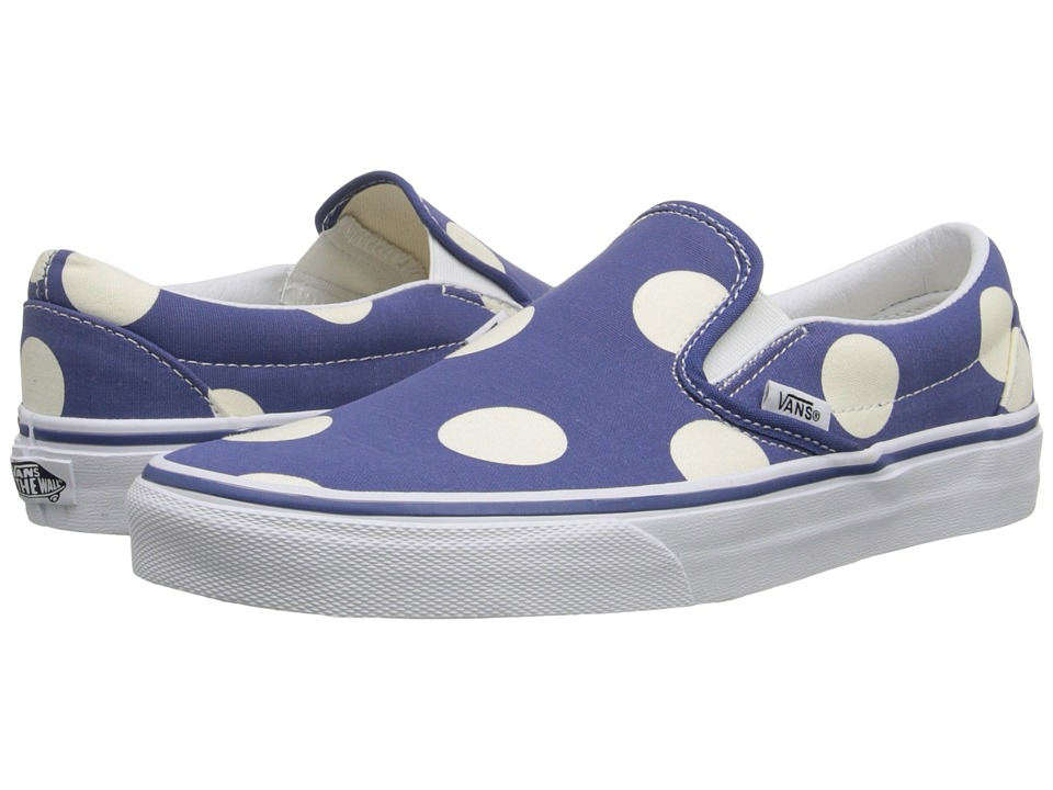 Vans - Classic Slip-On ((Polka Dots) Navy) Skate Shoes