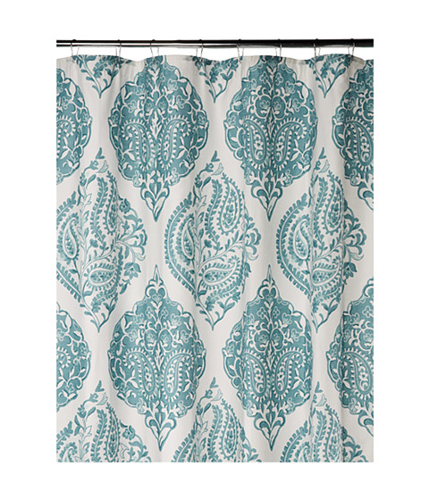 Harbor House Ogee Paisley Shower Curtain Blue White Shipped Free At Zappos
