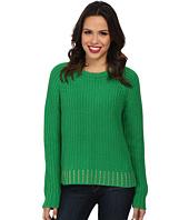 MICHAEL Michael Kors - Bead Hem Long Sleeve Crew Sweater