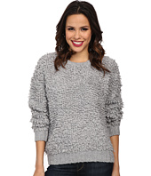 MICHAEL Michael Kors - Long Sleeve Knitted Fur Crew Neck