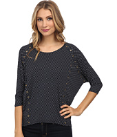 MICHAEL Michael Kors - Adriatic Spot 3/4 Sleeve Elliptical Hem
