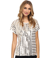 MICHAEL Michael Kors - Stripe Mix Sequin Top