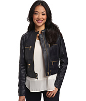 MICHAEL Michael Kors - Zip Detailed Leather Jacket