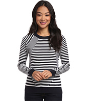 MICHAEL Michael Kors - Long Sleeve Stripe Mix Crew Neck