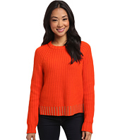 MICHAEL Michael Kors - Bead Hem Long Sleeve Crew Sweater