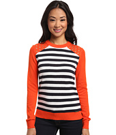 MICHAEL Michael Kors - Long Sleeve Grommet Stripe Sweater