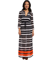 MICHAEL Michael Kors - Helsinki Long Sleeve Maxi Dress