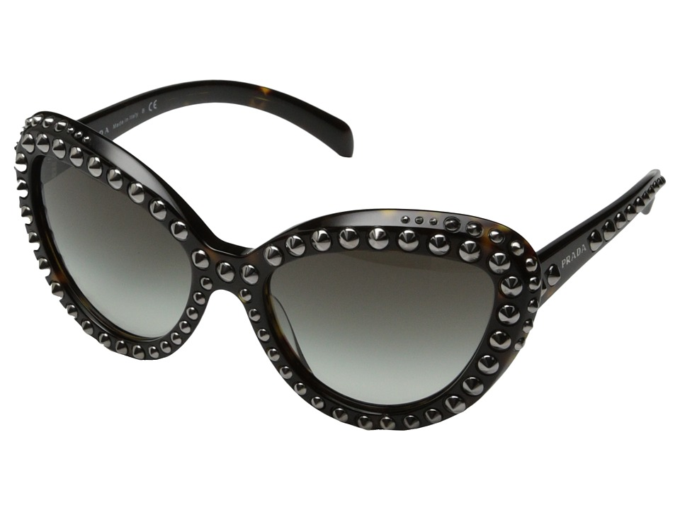 Prada 0PR 31QS Black/Gunmetal Studs Fashion Sunglasses