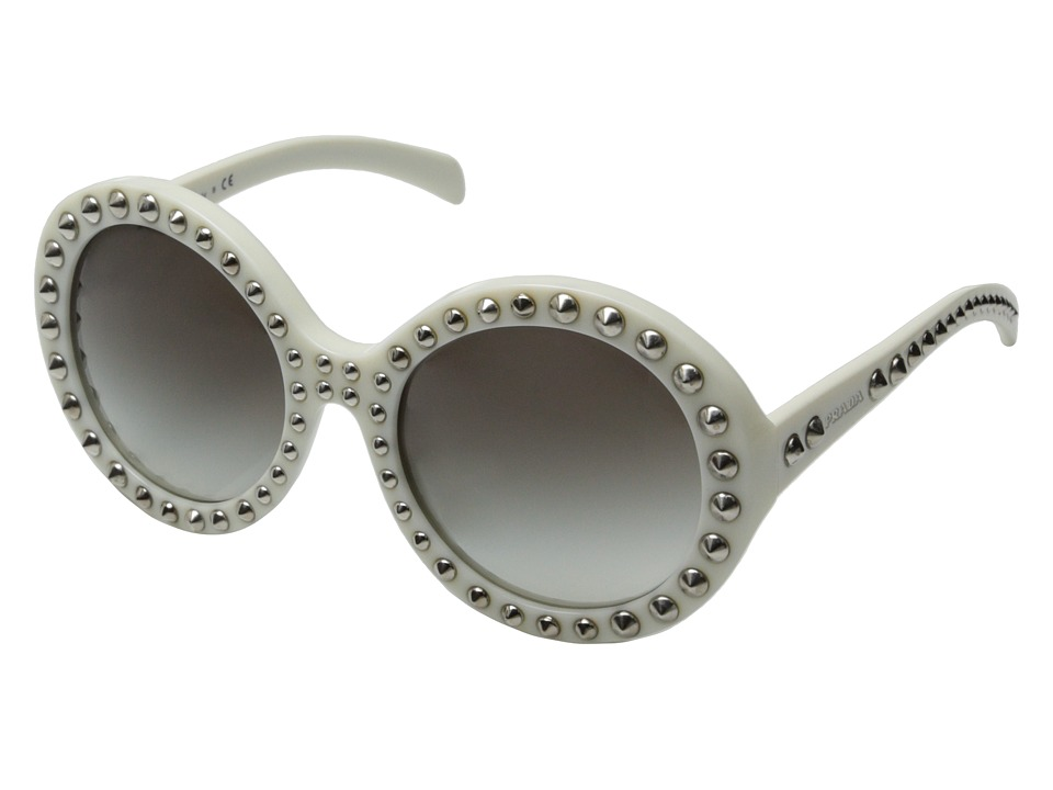 Prada 0PR 29QS Ivory/Silver Studs Fashion Sunglasses