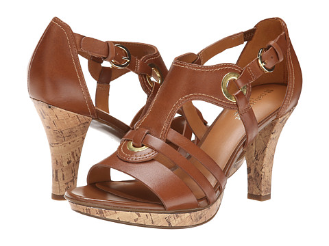 Naturalizer - Dalena (Saddle Tan Leather) Women's Dress Sandals