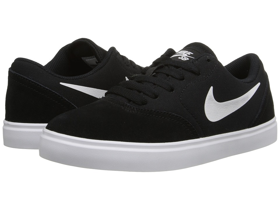 Nike SB Kids SB Check Big Kid Black/White Boys Shoes