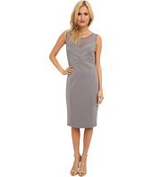 Jessica Simpson - Sleeveless Paneled Bodice Dress with Straight Skirt