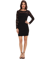 Jessica Simpson - Long Sleeve with Lace Arms and Yoke Neck