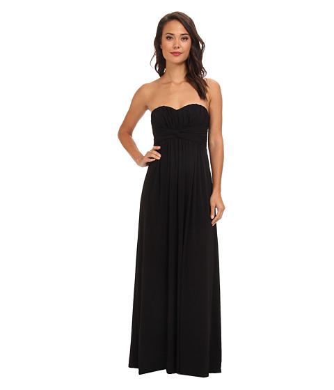 Jessica Simpson - Twist Bust Maxi Gown (Black) Women's Dress