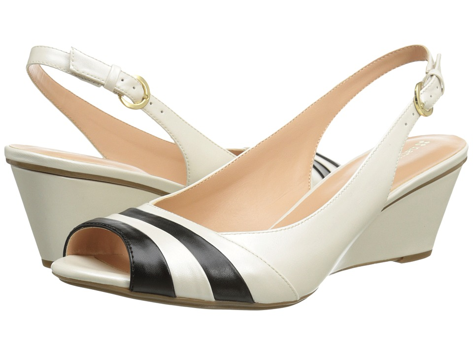 Naturalizer - Hampton (Ivory/Black Pearlized) Women's Wedge Shoes