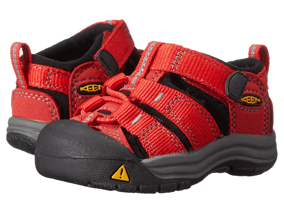Keen Kids Newport H2 (Toddler) (Ribbon Red/Gargoyle) Kids Shoes