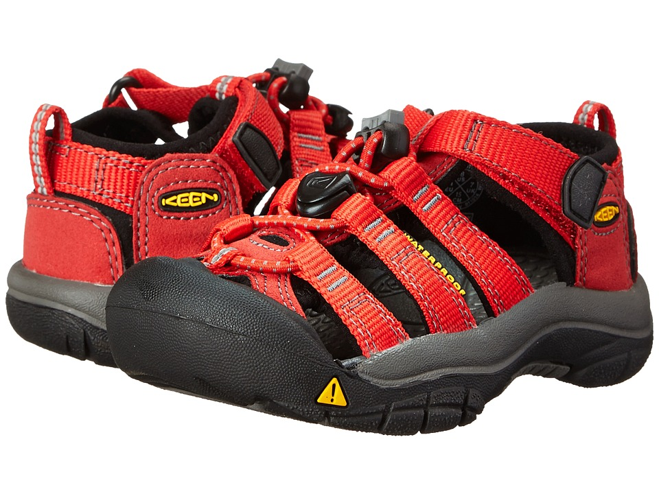 Keen Kids Newport H2 (Toddler/Little Kid) (Ribbon Red/Gargoyle) Kids Shoes
