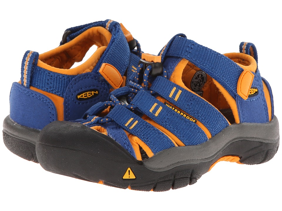 Keen Kids Newport H2 ToddlerLittle Kid True BlueDark Cheddar Boys Shoes