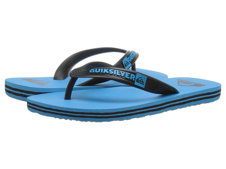 Quiksilver Kids - Molokai (Toddler/Little Kid/Big Kid) (Black/Blue/Blue) Boys Shoes