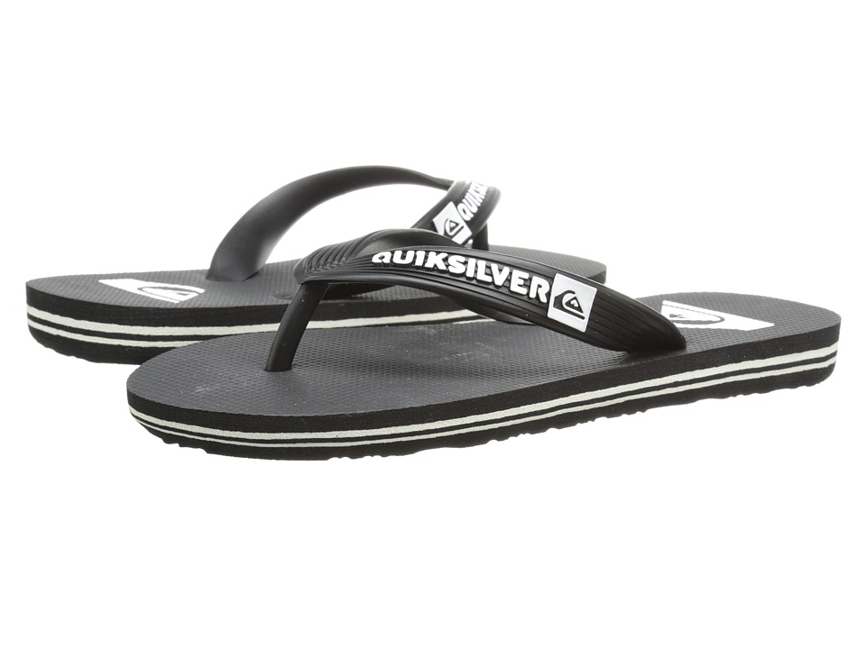 Quiksilver Kids - Molokai (Toddler/Little Kid/Big Kid) (Black/Black/White Multi Snake) Boys Shoes