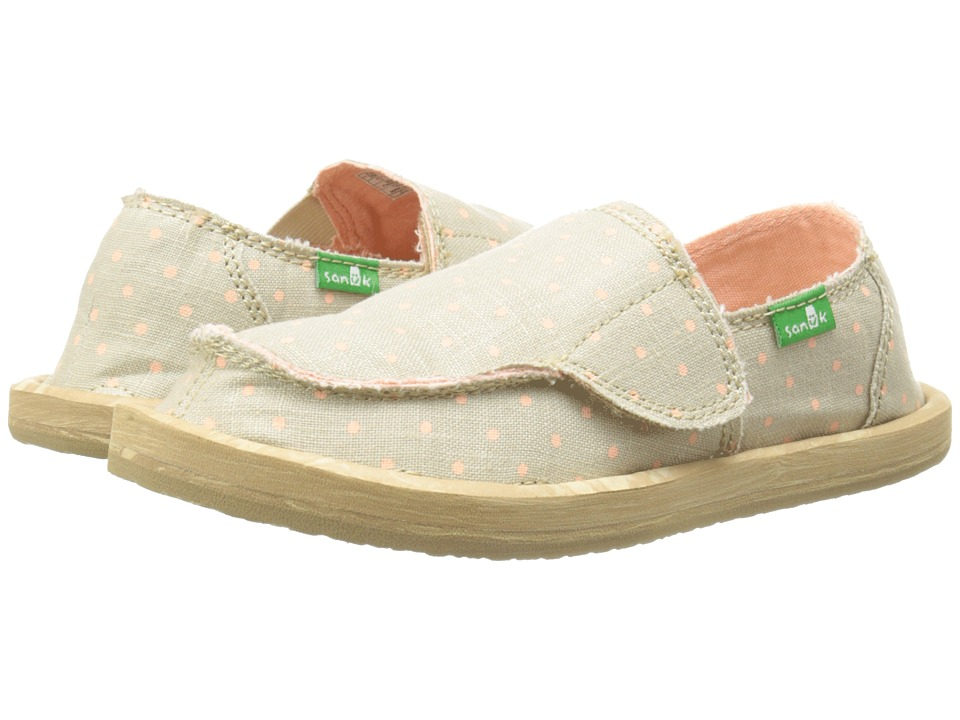 Sanuk Kids Hot Dotty Toddler/Little Kid Natural/Peach Dots Girls Shoes