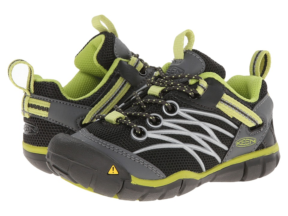 Keen Kids Chandler CNX Toddler/Little Kid Raven/Bright Chartreuse Boys Shoes