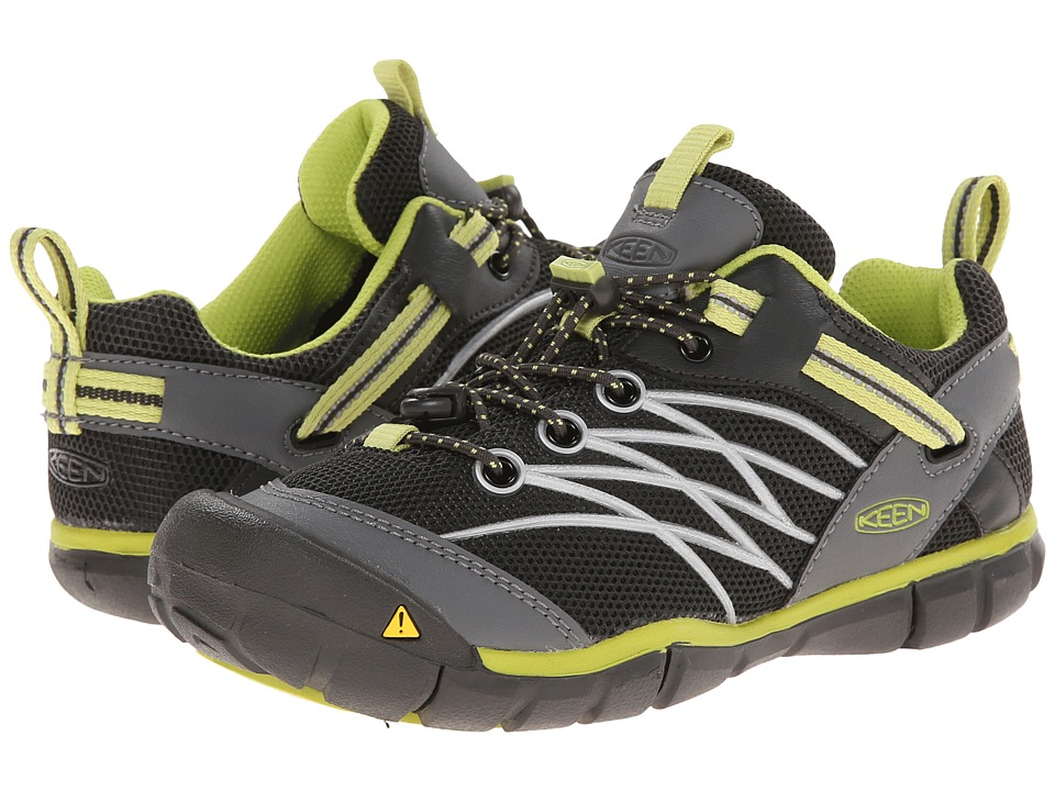 Keen Kids Chandler CNX Little Kid/Big Kid Raven/Bright Chartreuse Boys Shoes
