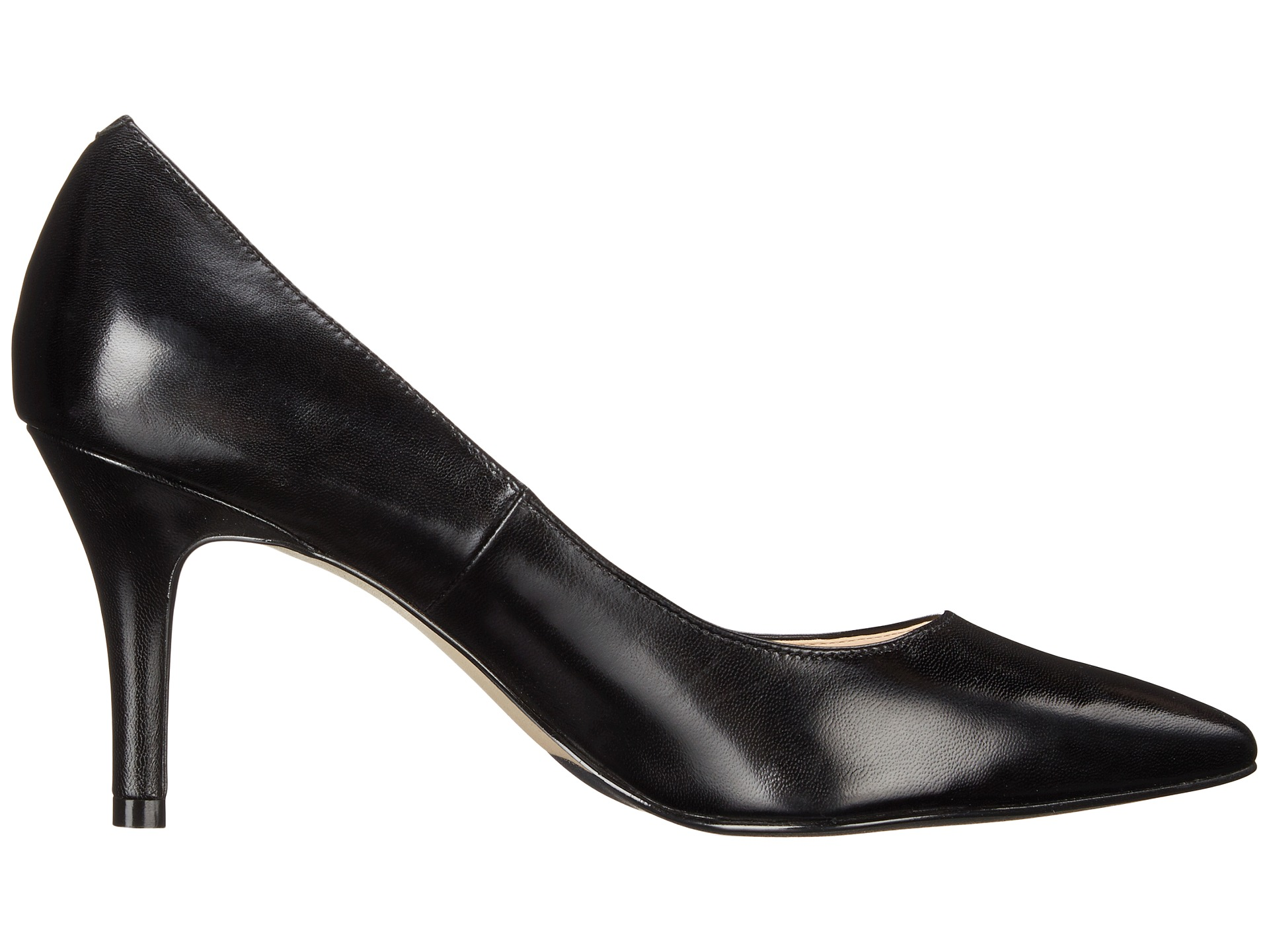 Cole Haan Juliana Pump 75 Black Leather - Zappos.com Free Shipping ...