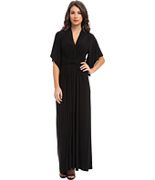 Tbags Los Angeles - Dolman Sleeve Ruched Waist Maxi w/ Back Slit