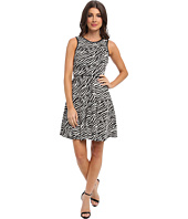 Tbags Los Angeles - Stretch Jacquard Fit & Flare Dress