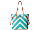 Dooney & Bourke Large Chevron North/South Bailey Bag