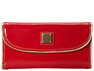 Dooney & Bourke Market Highland Holiday Patent Continental Clutch