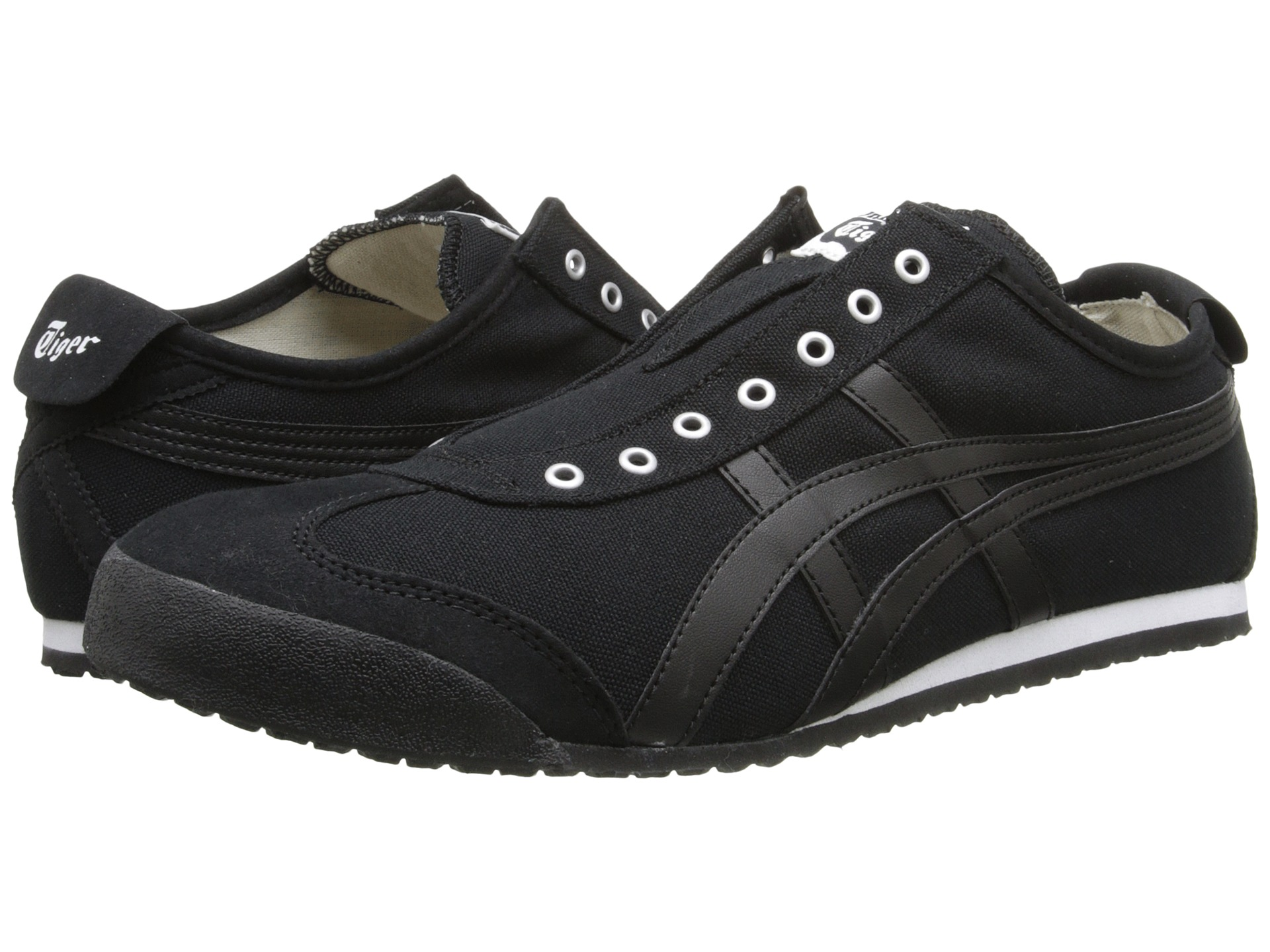 onitsuka tiger by asics mexico 66 slip on black black free shipping both ways. Black Bedroom Furniture Sets. Home Design Ideas