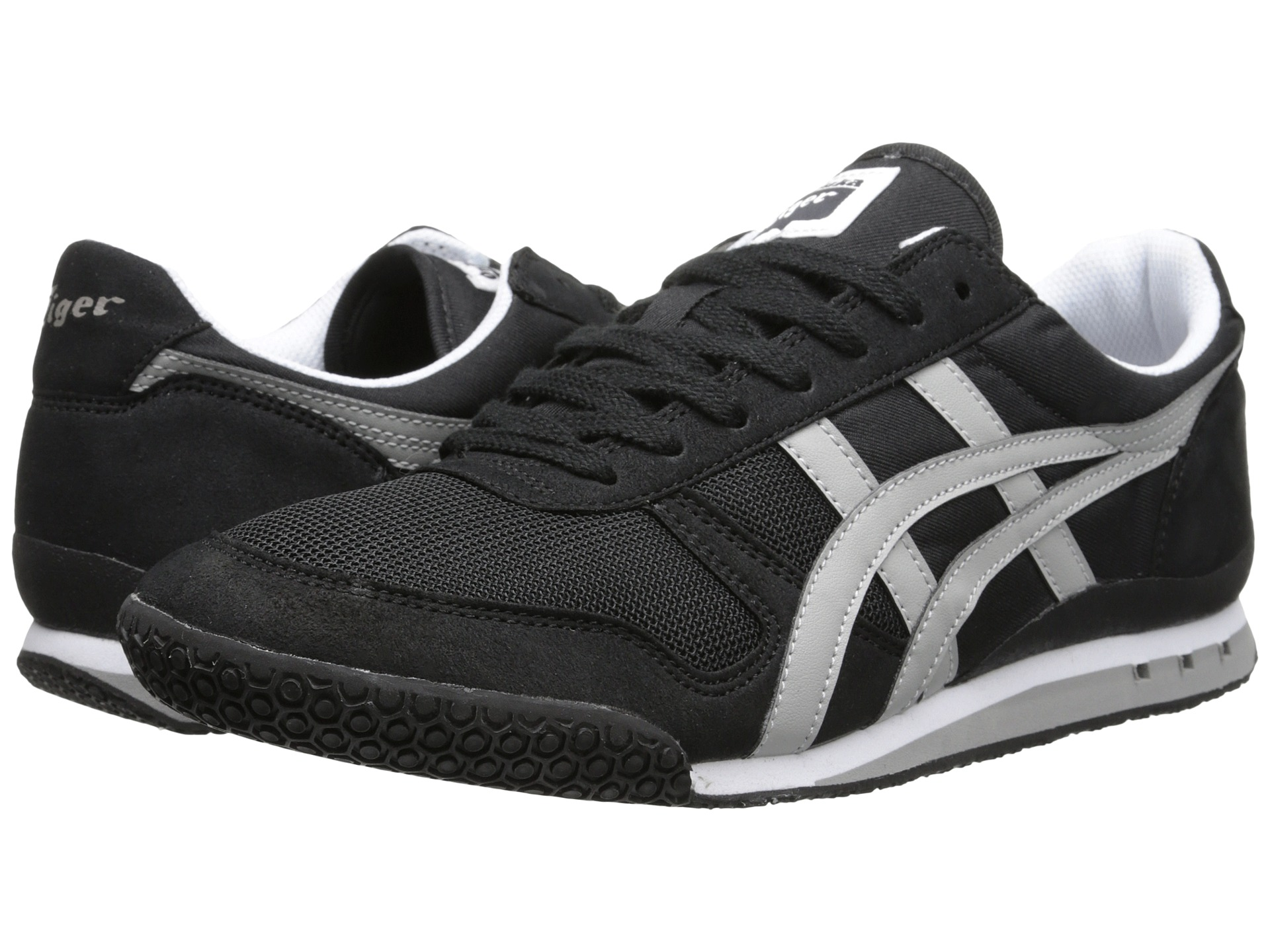 onitsuka tiger by asics ultimate 81 black light grey. Black Bedroom Furniture Sets. Home Design Ideas