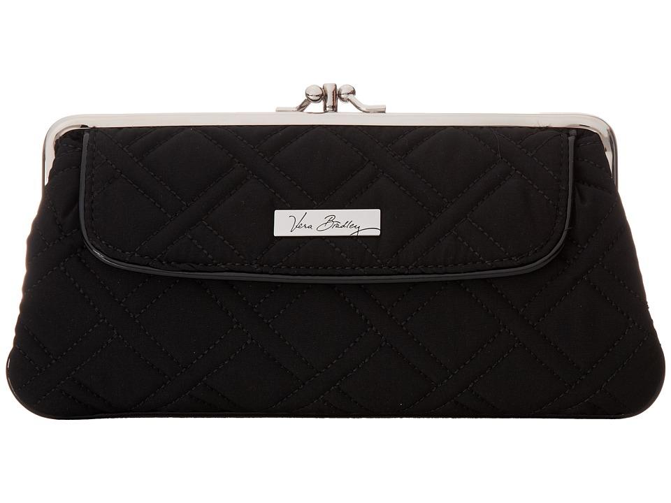 Vera Bradley - Kisslock Wallet (Classic Black w/ Black Trim) Wallet Handbags