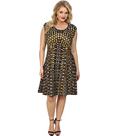 NIC+ZOE - Plus Size Textural Dots Twirl Dress