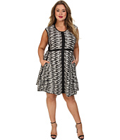 NIC+ZOE - Plus Size Pebble Pieced Twirl Dress
