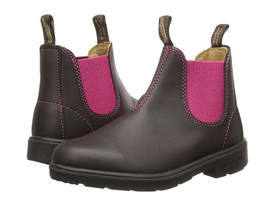 Blundstone Kids 1410 (Toddler/Little Kid/Big Kid) (Brown/Pink) Girls Shoes
