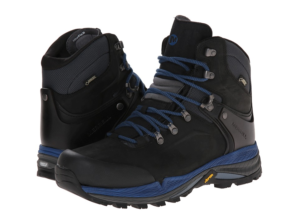 Merrell - Crestbound GORE-TEX (Black/Blue) Men