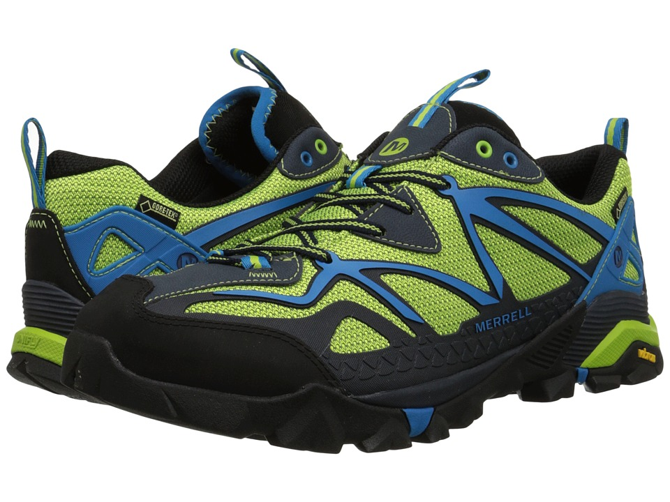 Merrell Capra Sport GORE TEX Black/Lime Green Mens Lace up casual Shoes