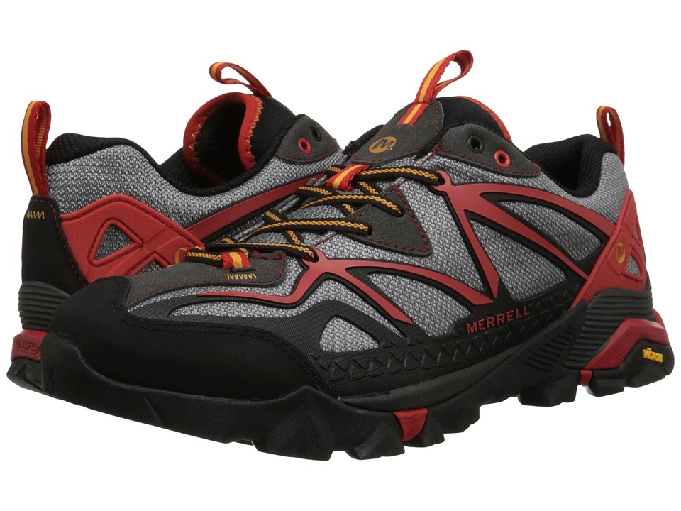 Merrell Capra Sport Light Grey/Red Mens Lace up casual Shoes