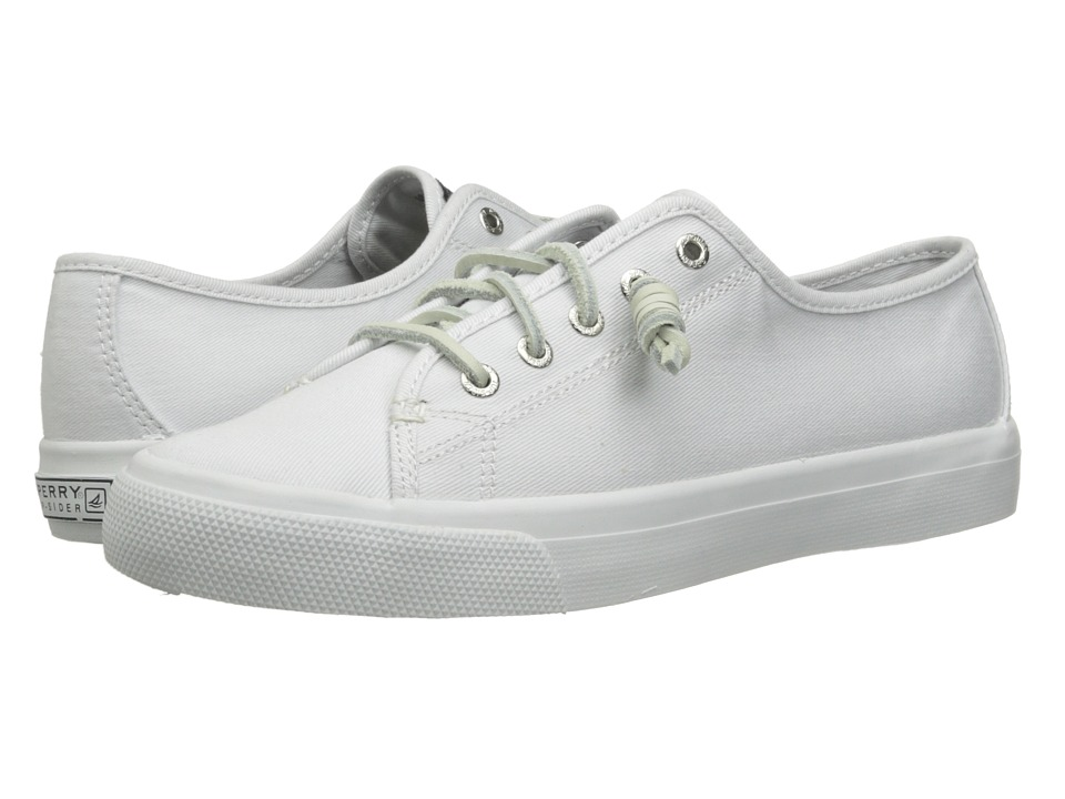 Sperry Top Sider Seacoast White Womens Lace up casual Shoes