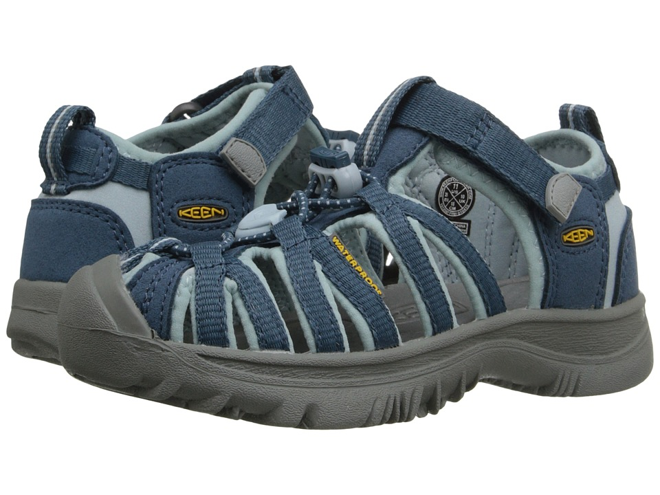 Keen Kids Whisper Toddler/Little Kid Indian Teal/Corydalis Girls Shoes