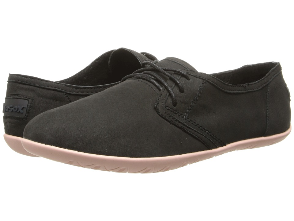 NoSoX Barre Black/Blush Nubuck Womens Lace up casual Shoes