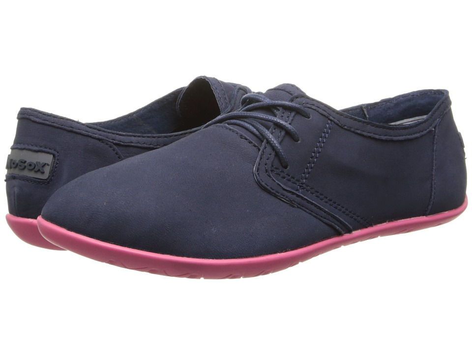 NoSoX Barre Navy/Pink Nubuck Womens Lace up casual Shoes
