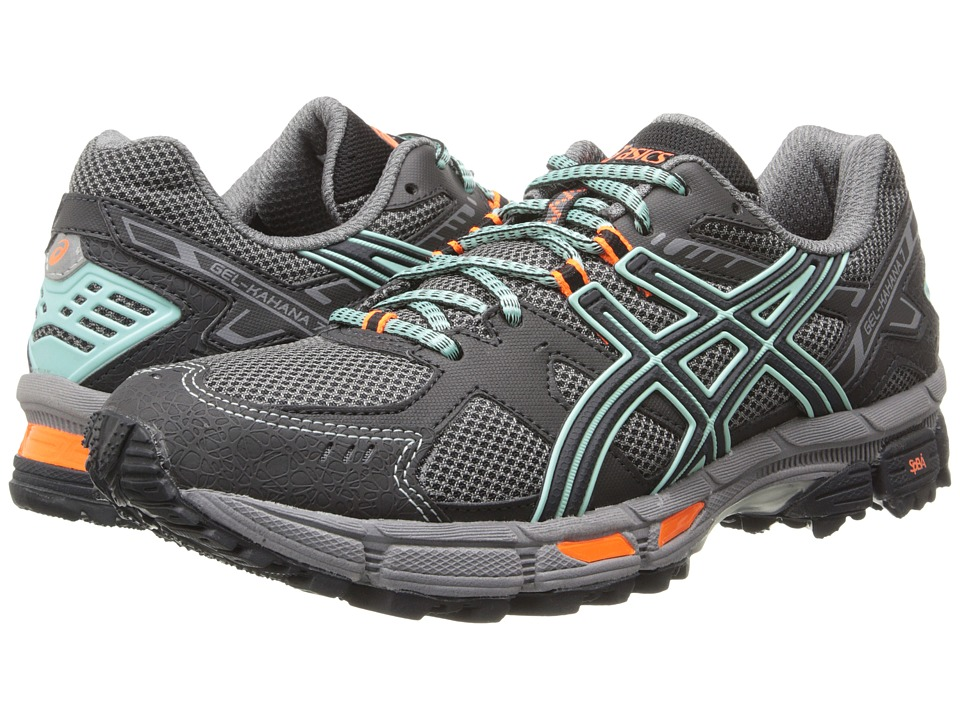 ASICS - Gel-Kahana 7 (Onyx/Beach Glass/Flash Coral) Womens Running Shoes