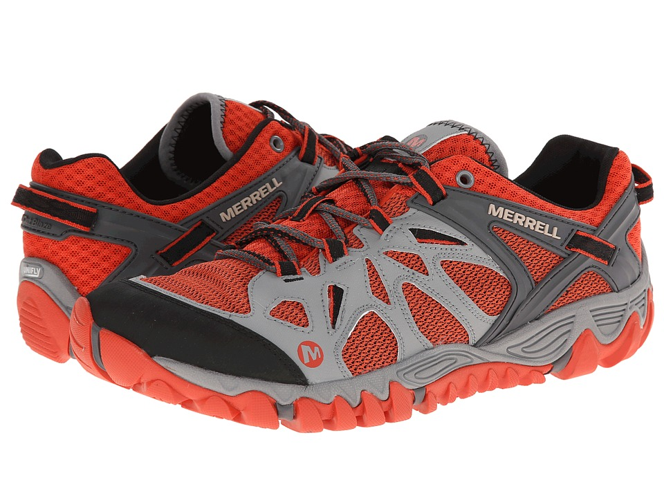 Merrell - All Out Blaze Aero Sport (Grey/Red Clay) Men