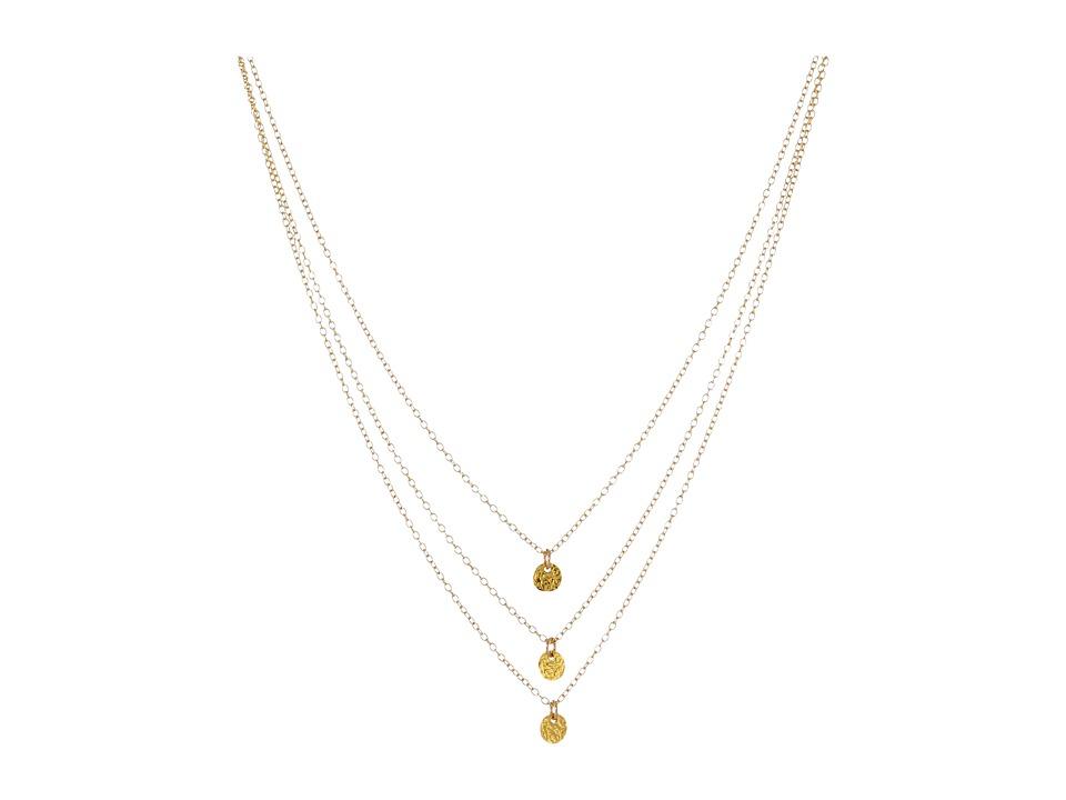 gorjana 3 Disc Necklace Gold Necklace