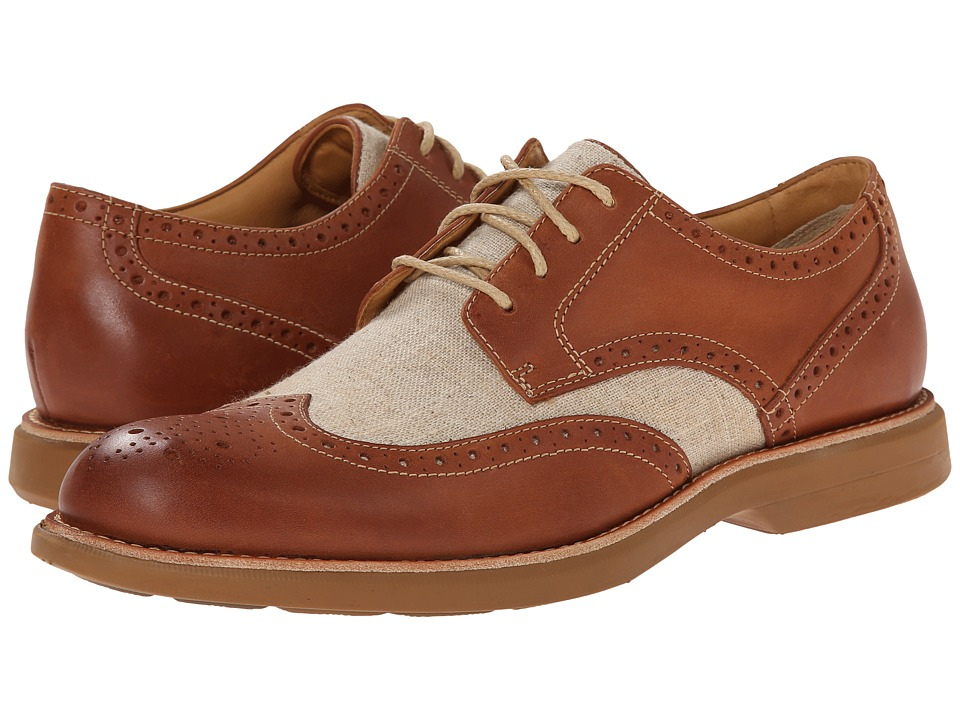 Sperry Top-Sider - Gold Bellingham Wingtip w ASV TanIvory Mens Lace Up Wing Tip Shoes $185.00 AT vintagedancer.com