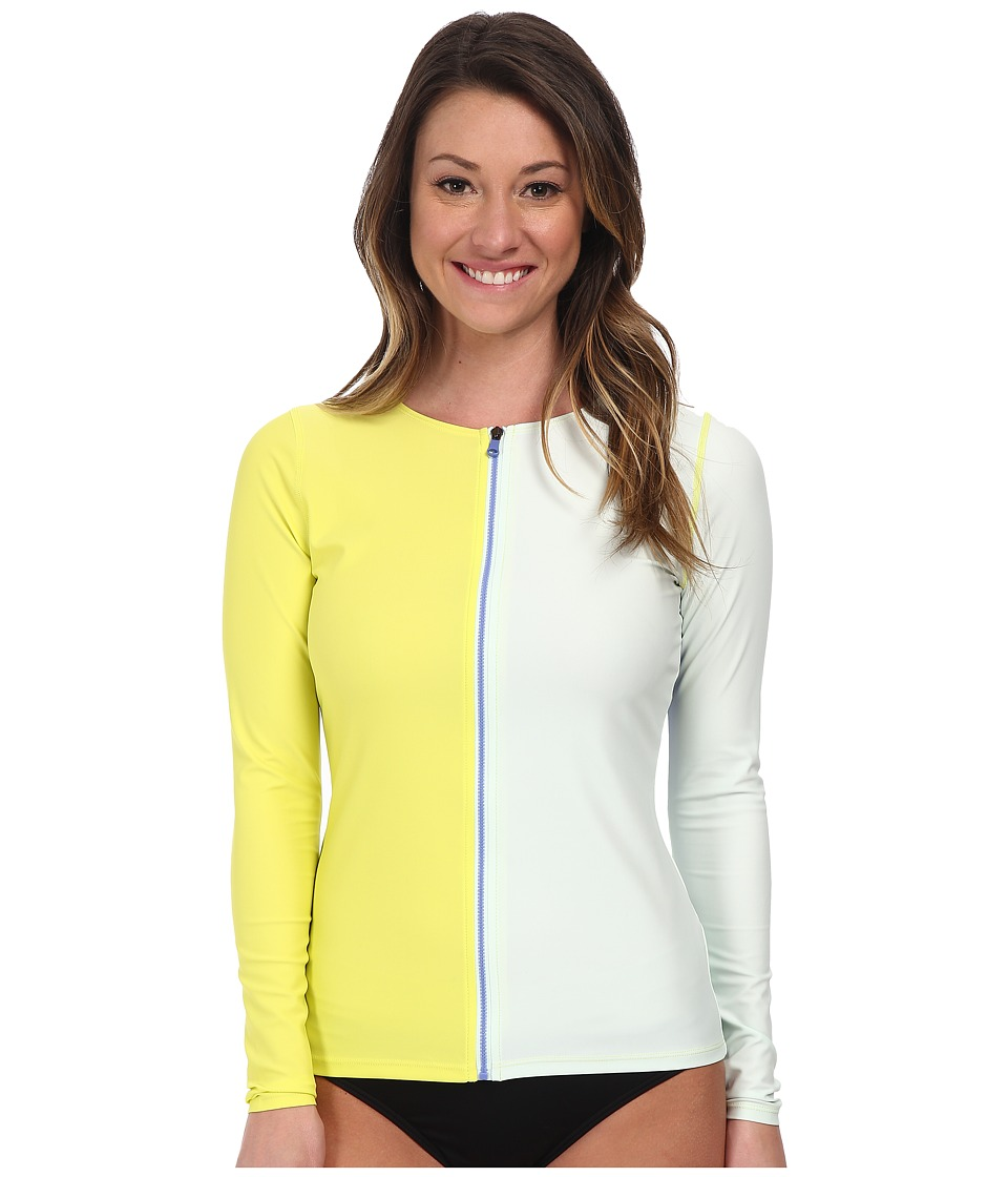 Roxy Outdoor - Zip It Rashguard (Limeade) Women's Swimwear